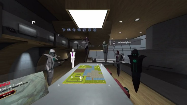 An example of AltspaceVR environment and avatars (image from AltspaceVR Inc.)