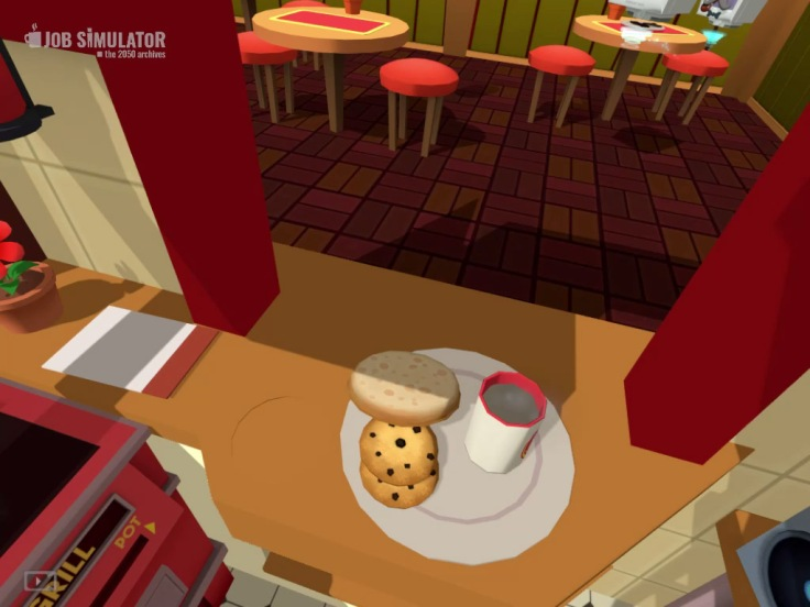 HTC Vive Job Simulator... who wants some cookie and a cup of dirty water?