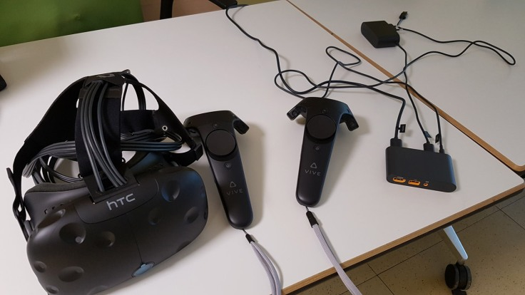 HTC Vive and its controllers