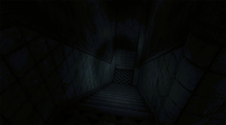 The affected horror VR game corridor
