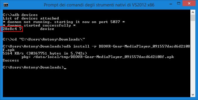 oculusvr osig command line deovr