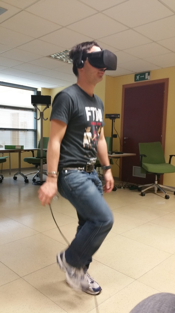 Gianni playing full body virtual reality with HTC Vive and Kinect... will it be possible with Vive 2?