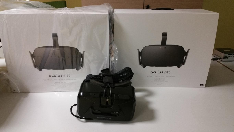 Oculus DK2 and Oculus CV1