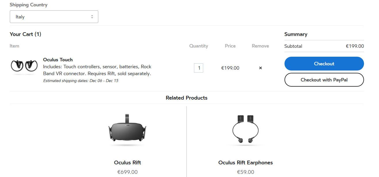 Oculus Rift Touch preorder