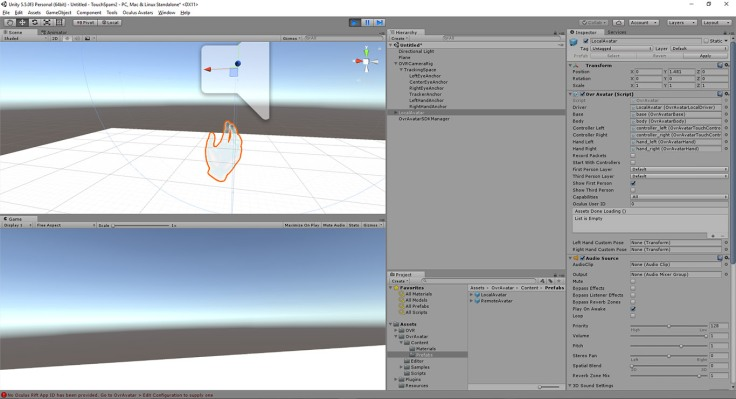 virtual reality oculus touch avatar sdk tutorial